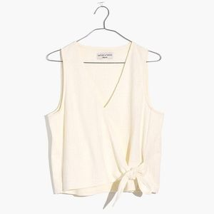 NWT Madewell Sleeveless Wrap Top